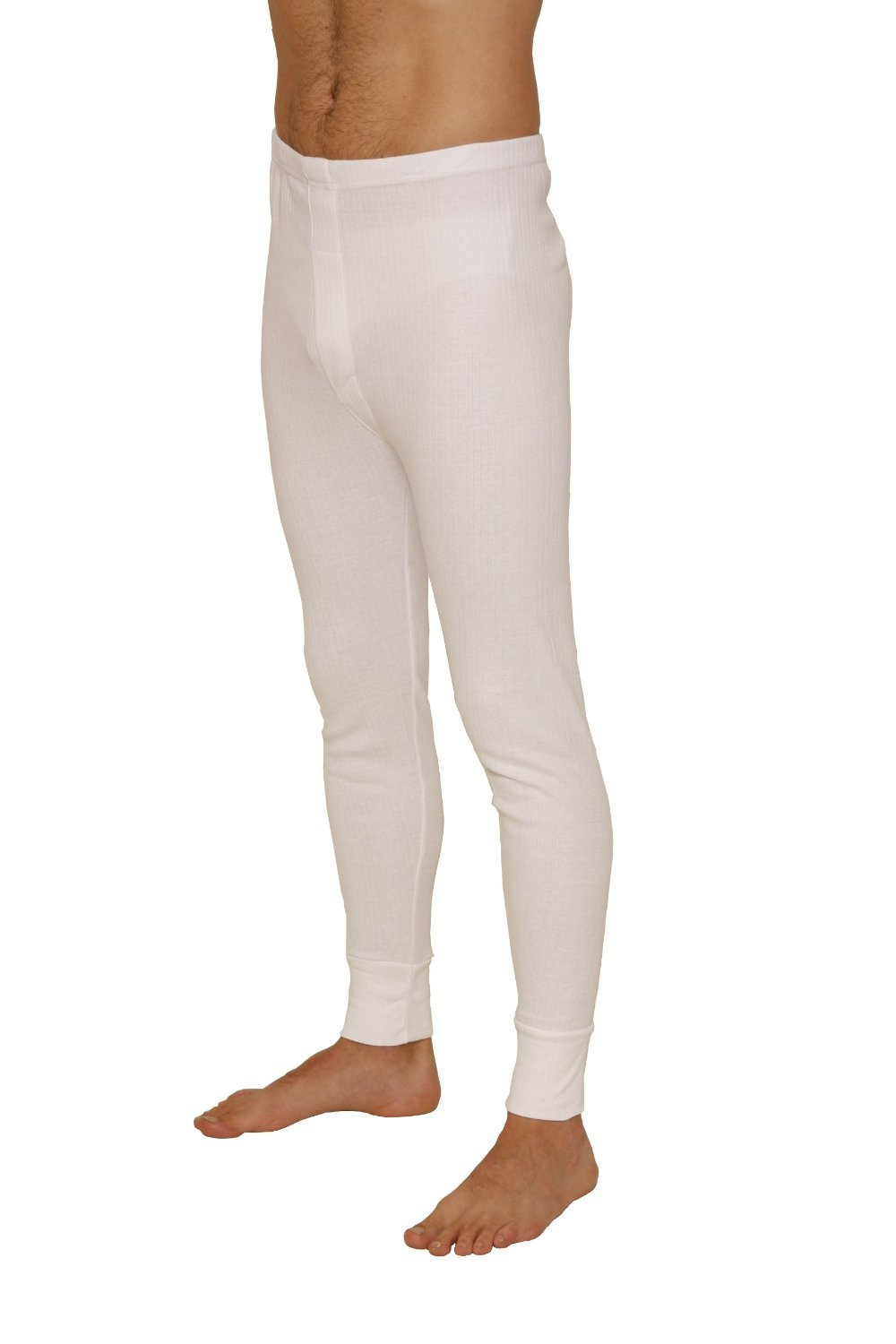 Octave Mens Thermal Underwear Long John/Long Underwear (5X-Large: Waist 54-56 inches, White)