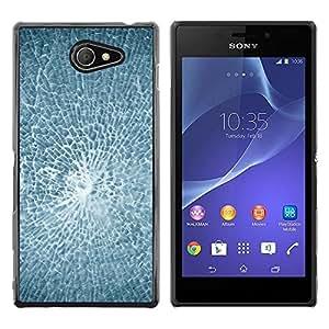 Be Good Phone Accessory // Dura Cáscara cubierta Protectora Caso Carcasa Funda de Protección para Sony Xperia M2 // Smashed Broken Glass