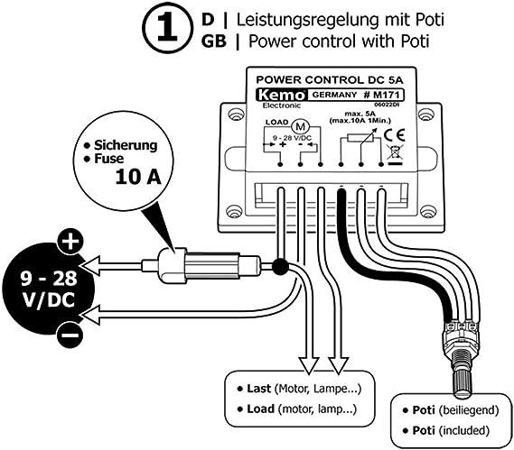PWM Power Controller 9-28 V//DC max M171 10 A