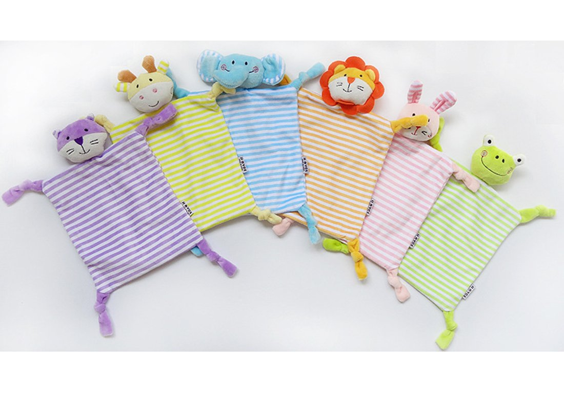 Baby Security BlankieFor Baby Infant Tollder Adorable Soother Blanket Best Gift for Baby【Green Frog 】