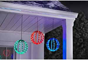 Home Accents Holiday 6.5 ft. 120-Light LED Multi-Color Red Green Blue Twinkling Spheres String Light TY061-1918