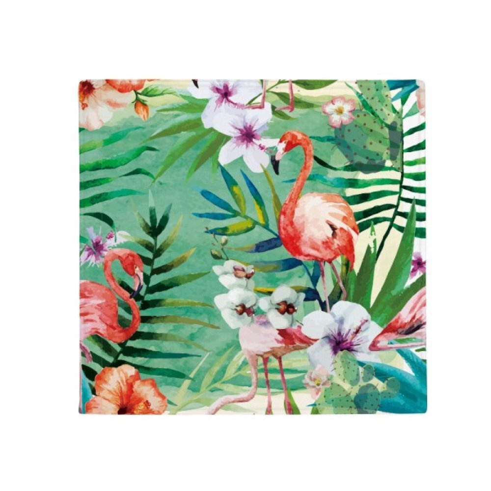 DIYthinker Tropical Plants Flamingo Animal Anti-Slip Floor Pet Mat Square Home Kitchen Door 80Cm Gift