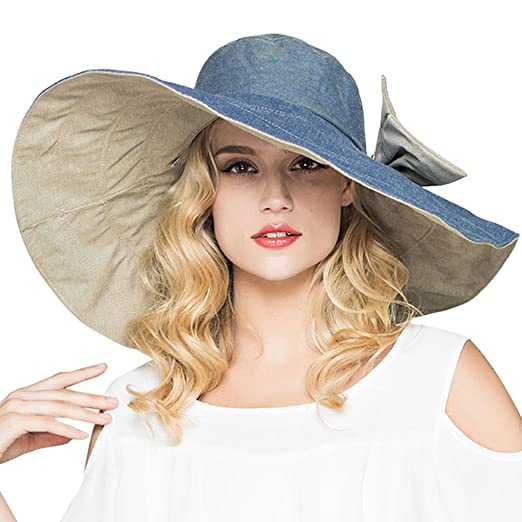 3297a4d5836 Image Unavailable. Image not available for. Color  HAPEE Large Wide Brim  Sun Hat for Women