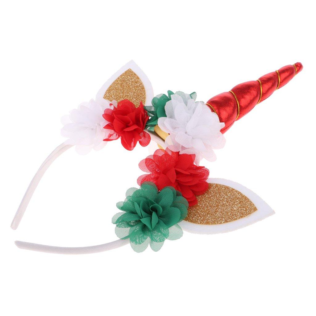 Dolity Decorative Magical Unicorn Horn Head Party Kids Hair Headband Crown Hat Fancy Dress - Black, 32 x 21 x 4.5cm