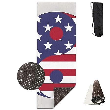 American Flag Yin Yang Deluxe, Esterilla de yoga aeróbica ...