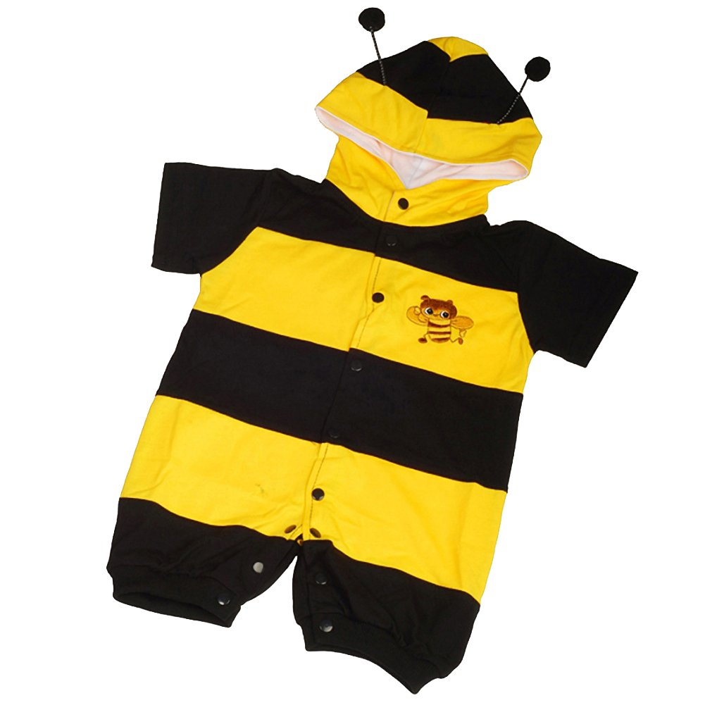 Dressy Daisy Baby Boys' Bee Baby Animals Halloween Fancy Party Costume Jumpsuit Size 18-24 Months