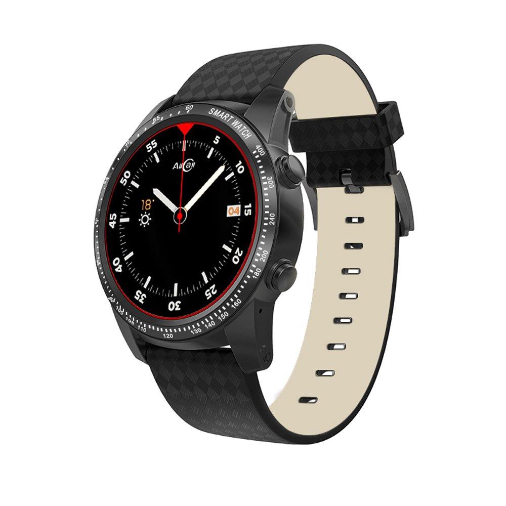 Docooler AllCall W1 Bluetooth Smart Watch Android 5.1 2GB RAM 16GB ROM 3G/2G Watch-Phone MTK6580m Quadcore Heart Rate Sport GPS Call Notification Pedometer Alarm Metal Body MP3 MP4 WiFi