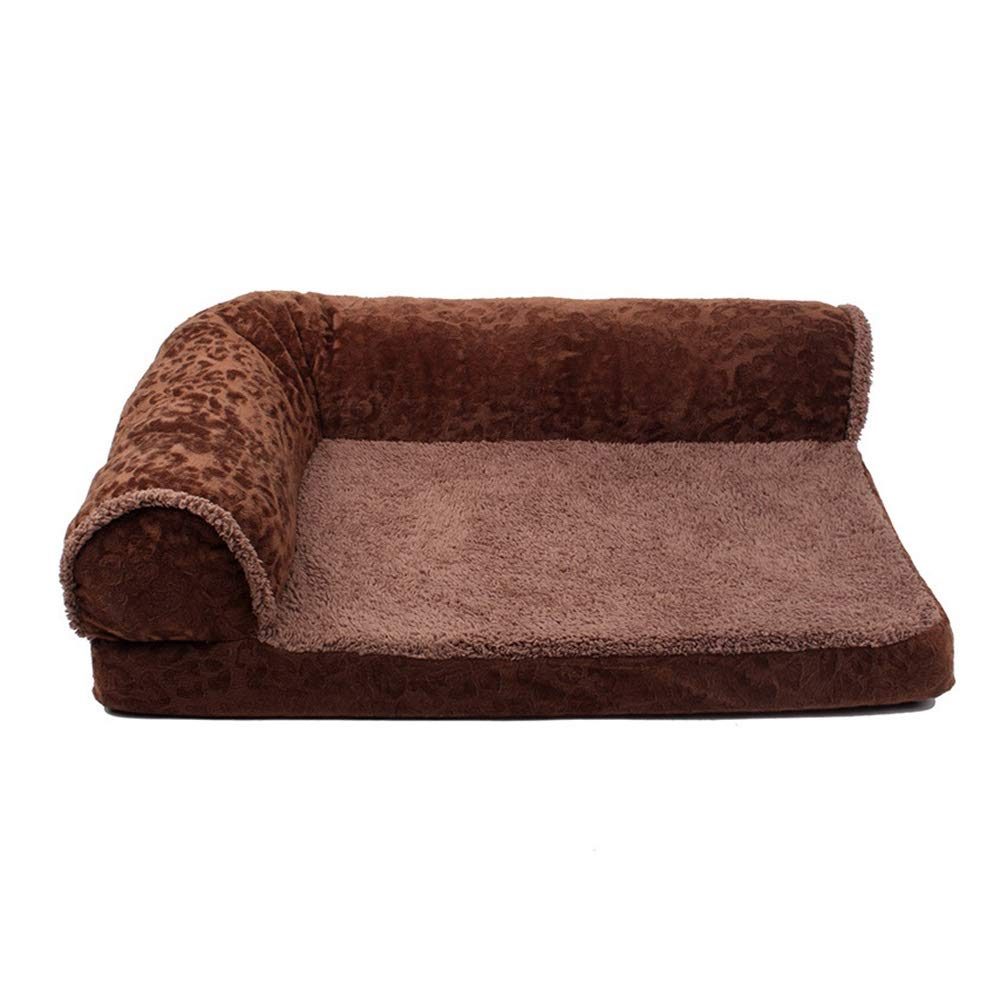 Dark coffee LHU Pet Nest Comfortable Predective Spine Pet Bed Fully Disassemblable Rebound, Good Support (color   Dark coffee, Size   L)