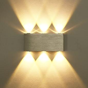 Unimall 6W LED Wandleuchte Innen Wandlampe Aus Aluminum Mit Schönem  Lichtkeffekt Dekoration In Flur Treppe Wohnzimmer