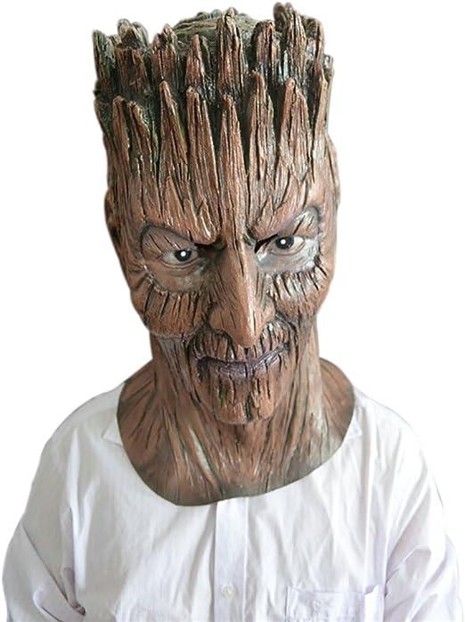 Monbedos - Máscara de látex Humano, máscara de árbol de Terror ...