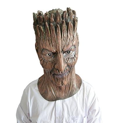Cosanter Máscara de Cabeza Humana de Fiesta del Máscara de Demonio de Árbol de Fiesta de
