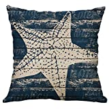 Hurrybuy Marine Life Decorative Throw Pillow Cushion Covers 18 x 18 inch for Sofa, Bench, Bed, Auto Seat