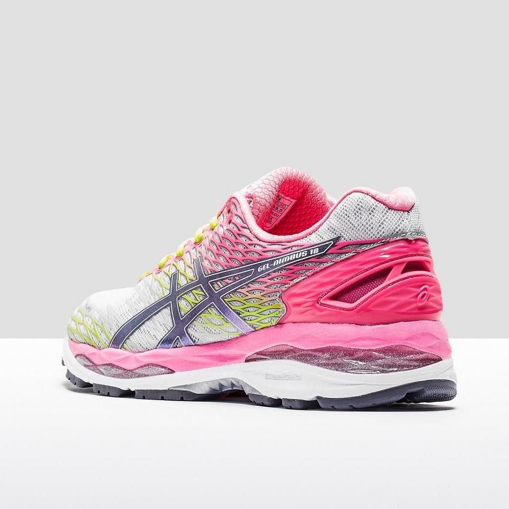 Amazon.com | Asics Gel Nimbus 18 Running Sport Shoes silver/pink/neon, EU Shoe Size:35.5 EU | Road Running