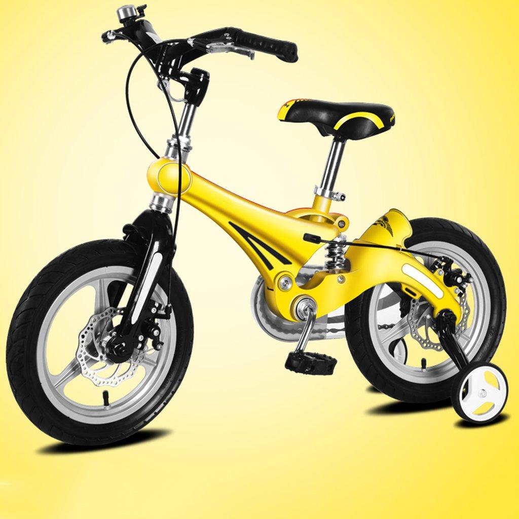 子供用自転車、A&Dan マグネシウム合金子供用自転車子供用三輪車2-8歳の子供に適しています B07CR5ZYF1 16〃|Yellow Yellow 16〃