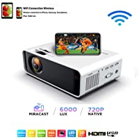 SOTEFE® Mini LED Projector Portable 6000 Lumens-WiFi Video Projectors 1080P Full HD For iPhone Samsung Smartphone…