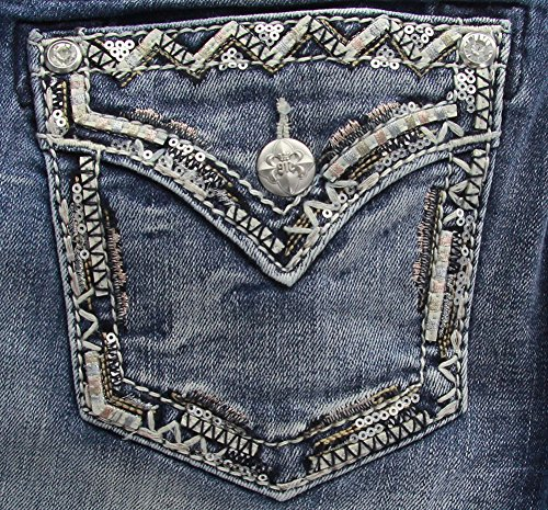 Embroidered Bootcut Womens Jeans - 6