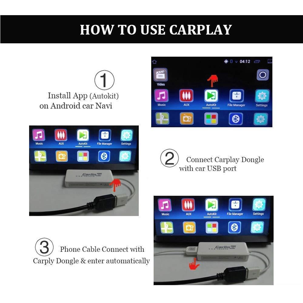 USB Carplay Dongle,Android Auto, Mirroring, Mini Smartphone Link