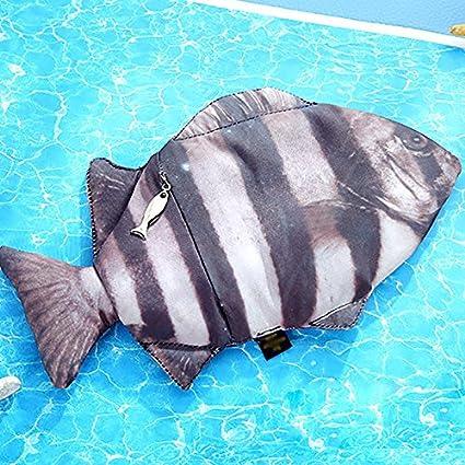Itemer stile coreano studente di matita carino Cartoon pesce modellazione cancelleria borsa da viaggio trousse