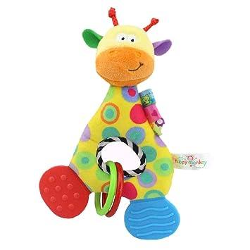 Branger Juguetes Bebe, Carro Bebe Juguete, Confort Crystal Fine Hair Sensory Toys para Bebés con BB Voicer, Dos Mordedores y Anillos de Goma: Amazon.es: ...