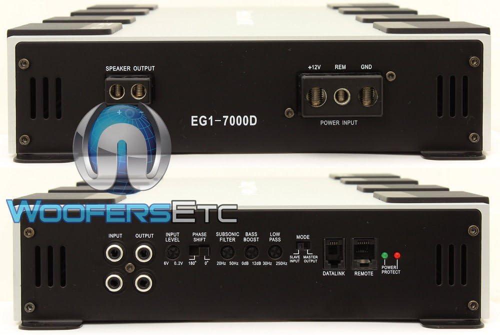 Power Acoustik Monoblock 7,000W Max Full Range Amplifier EG1-7000D