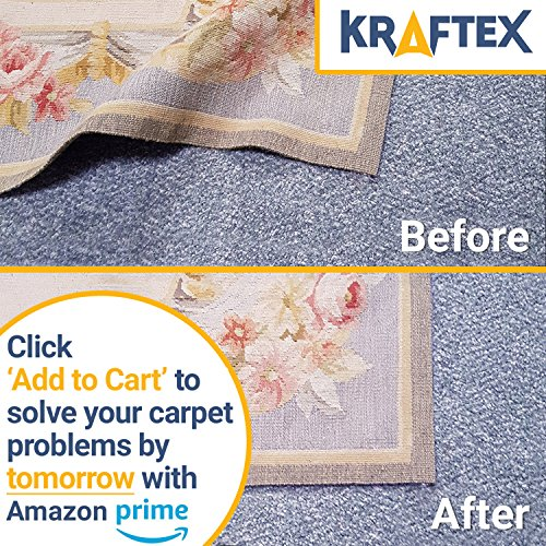 Kraftex Rug Gripper Tape Pads Anti Slip Non Skid Carpet Corners