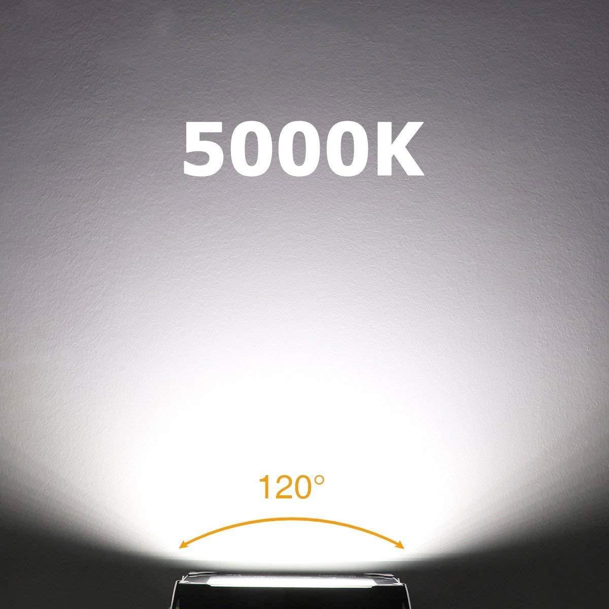 5000K Lumi/ère Blanc Froid 3000LM IP66 /étanche Onforu Lot de 4 Projecteur LED Ext/érieur 35W Garage Spot Projecteur /à LED /Éclairage Ext/érieur pour Jardin Terrasse