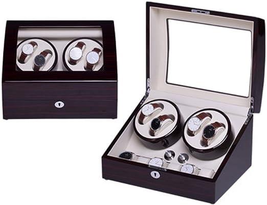 Caja Relojes Automaticos Watch Winder Reloj mecánico automático Gira el Reloj (Color : 4+6a): Amazon.es: Relojes