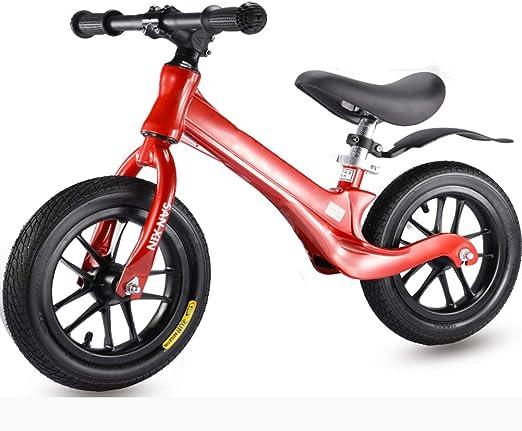 Bicicleta De Equilibrio Para Bebés, Aleación De Magnesio Ultraligera Un Cuadro Aprender A Caminar Practicar Bicicleta De Conducción Durante 1 ~ 6 Años Juguete Para Niños Bicicleta De Regalo Rueda,Rojo: Amazon.es: Jardín