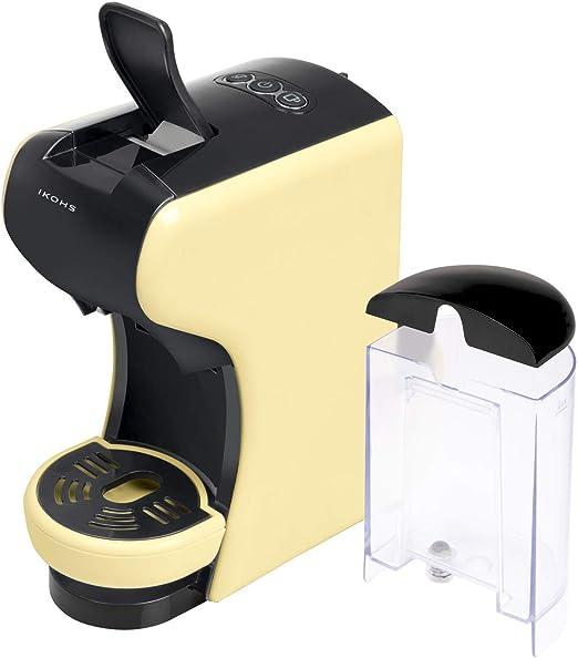 IKOHS Máquina de Café Espresso Italiano - Cafetera Multi Cápsulas Compatible Nespresso 3 en 1, 19 Bares con 2 Programas de Café, deposito extraíble, 0,7 L, Compacto, 1450 W, automático Beige: Amazon.es: Hogar