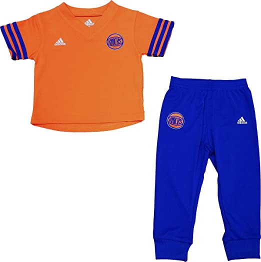 New York Knicks Orange Blue Toddler Adidas Courtside Shirt   Pants Set  (Toddler ... 2e47cf306