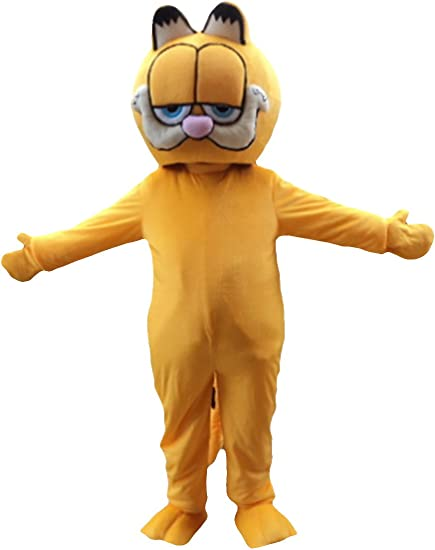 Sinoocean Garfield Cat Adult Mascot Costume Cosplay Fancy Dress Outfit Suit Yellow Amazon Ca Clothing Accessories