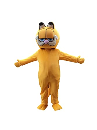 Garfield Cat Adult Mascot Costume Cosplay Fancy Dress Outfit Suit  sc 1 st  Amazon.com & Amazon.com: Garfield Cat Adult Mascot Costume Cosplay Fancy Dress ...