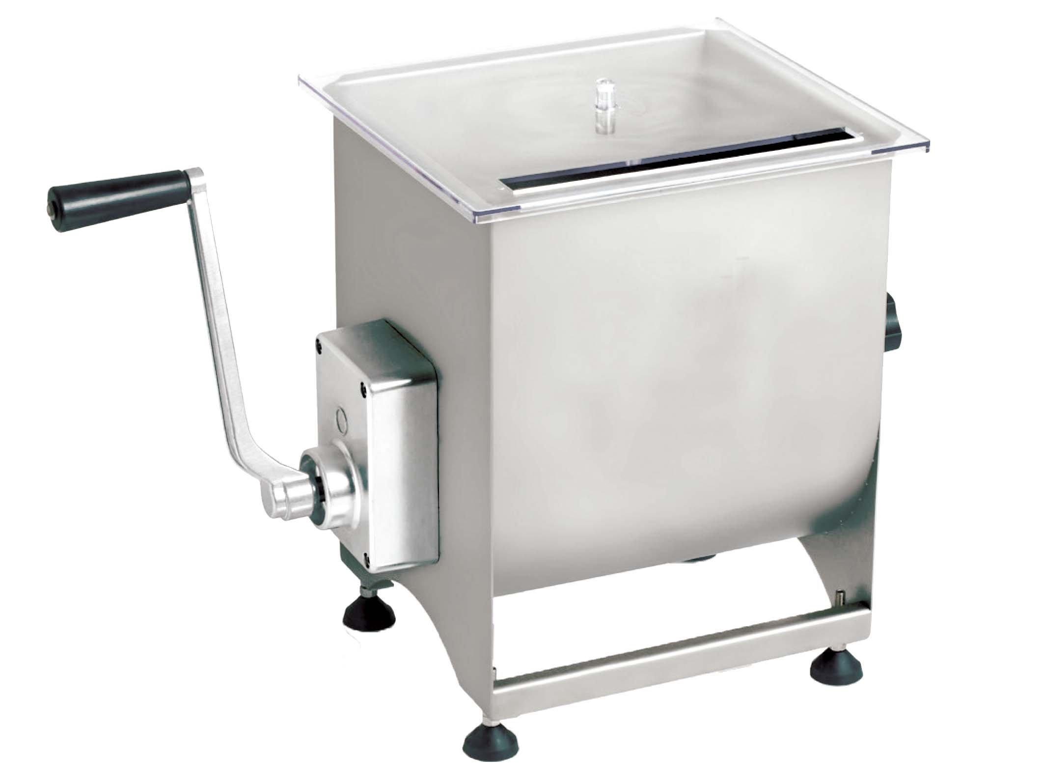 Omcan 13157 Manual Commercial Restaurant Meat Mixer with 44 lb Tank Italian Made