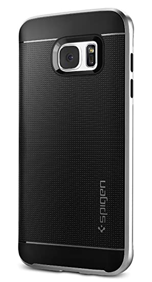 wholesale dealer 07df8 9bb66 Spigen Neo Hybrid Designed for Samsung Galaxy S7 Edge Case (2016) - Satin  Silver