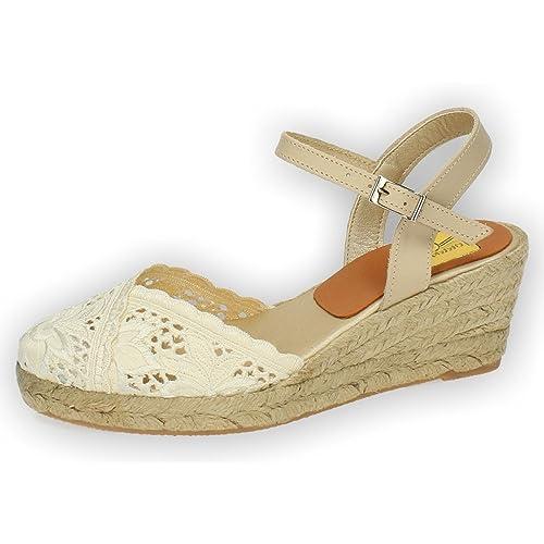 TORRES 5004 Zapatillas DE Encaje Mujer Alpargatas: Amazon.es: Zapatos y complementos