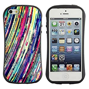 Suave TPU GEL Carcasa Funda Silicona Blando Estuche Caso de protección (para) Apple Iphone 5 / 5S / CECELL Phone case / / Vibrant Art Lines Colorful /
