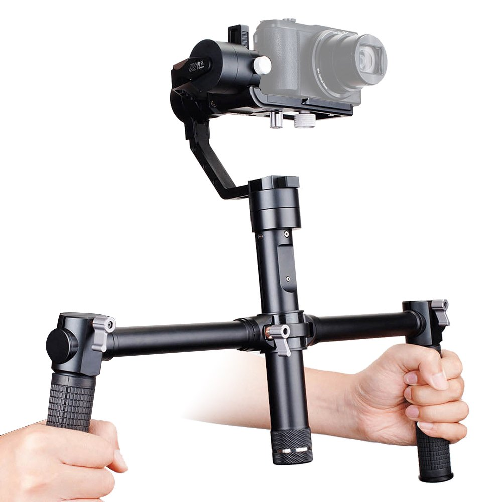 Zhiyun Dual Handheld Grip Bracket Kit Crane Extended Handle