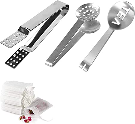 Tools  Food Set Quality Clip Stainless Steel Squeezer Tong Tea Bag