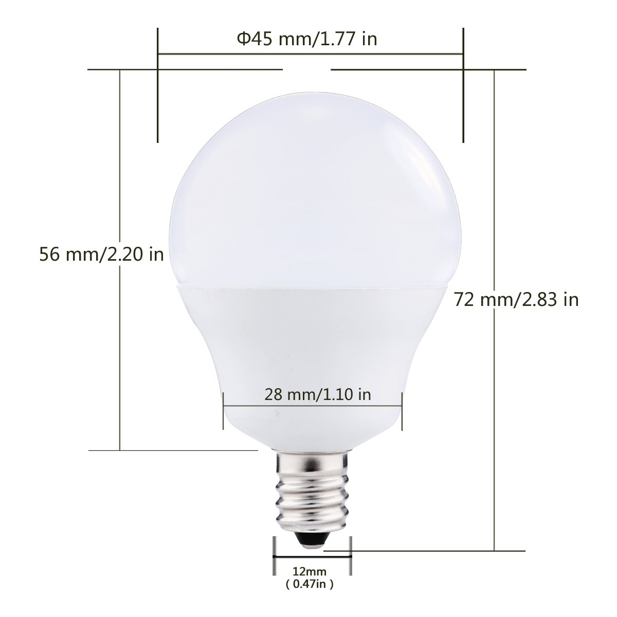 JandCase E12 Light Sensor Candelabra Bulb, Dusk to Dawn LED Bulbs for Porch, Daylight White(5000K), 40W Equivalent, 5W, 450lm, G14 Automatic Indoor/Outdoor Security Lights for Patio, Hallway, 4 Pack by JandCase (Image #2)
