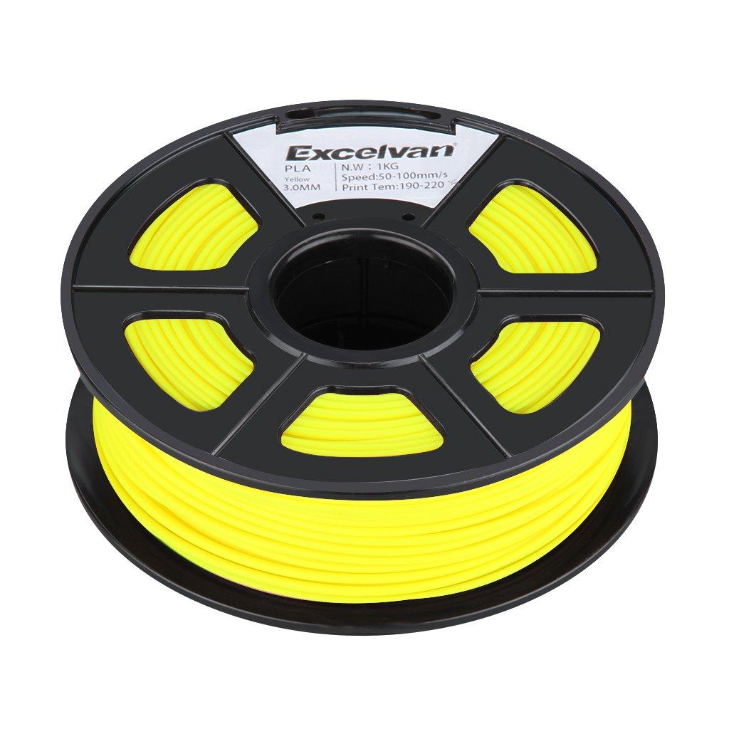 Excelvan profesional Bobina de filamento de impresora 3d 3.0 mm ...
