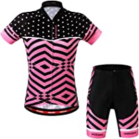 1979cf9554 LSKCSH Ciclismo de Las Mujeres Transpirable Jerseys de Secado rápido  Conjunto Ciclismo Jersey de Ciclo de