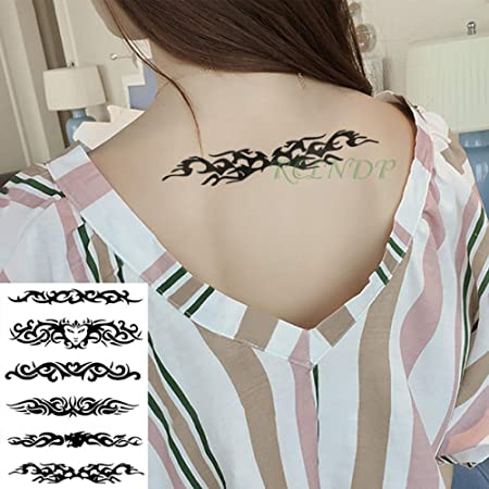 4pcs Impermeable Tatuaje Pegatinas Alas Inglés Carta Tatto Tatuaje ...