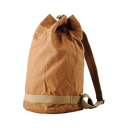 VRIKOO Cylindrical Unisex Canvas Backpack Outdoor Hiking Travel Duffle  Rucksack Gym Bag  Amazon.co.uk  Luggage 7274f4615f9