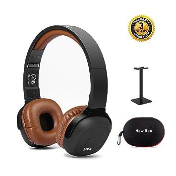 Auriculares para el oído, New Bee Bluetooth 4.1 Auriculares Auriculares inalámbricos Auriculares plegables Podómetro deportivo