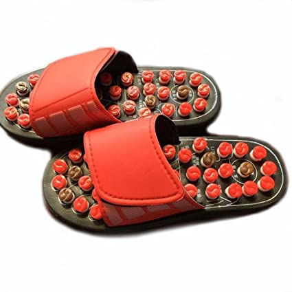 a91af061eb63 FJY Foot Massage Slippers Reflexology Acupressure Massager Health Mules  With Rotating Acupuncture Points Feet Care