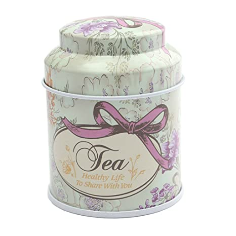 Cajas de Almacenaje Cubos de Azúcar Té Café Tarro de Lata Caramelo Contenedor Sellado Flor Metal