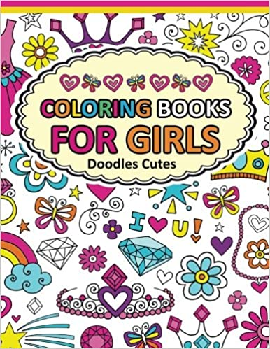 coloring book for girls doodle cutes the really best relaxing colouring book for girls 2017 cute animal dog cat elephant rabbit owls bears - Coloring Books For Teens