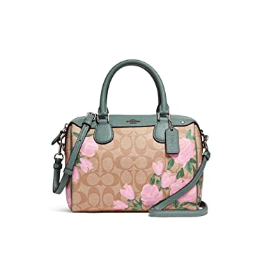216379ca5953b ... hot coach mini bennett satchel with camo rose floral print f25870 23b67  d0c35