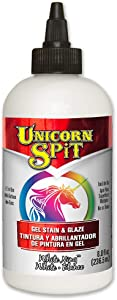 Unicorn SPiT 5771005 Gel Stain and Glaze, White Ning 8.0 FL OZ Bottle
