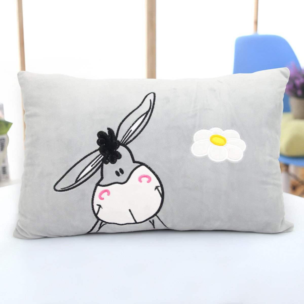 Music Speaker Pillow, AUSPA Music Pillow with Build-in Stereo Speaker & Cord, Music MP3 Player Pillow (Donkey Pattern)